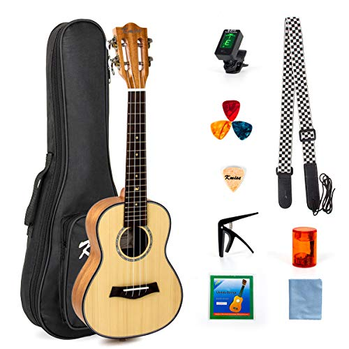 Starter kit per ukulele da concerto per principianti Ukulele in mogano con top in abete massiccio professionale 23 pollici con testa di chitarra classica hawaiana