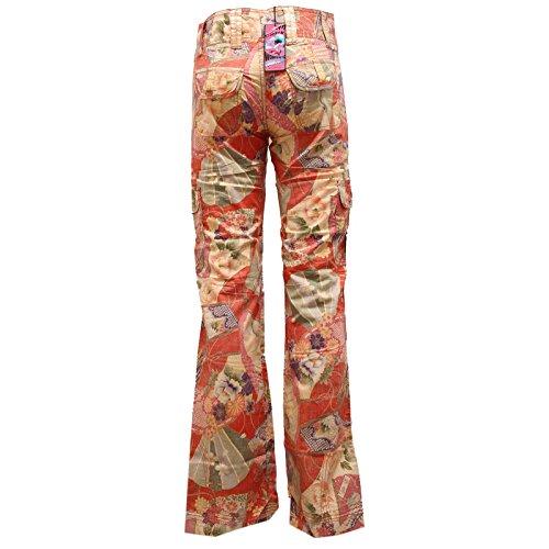 8440U pantalone donna CUSTO BARCELONA pant trouser woman Arancione