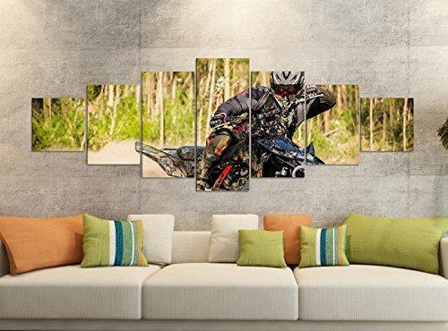Leinwandbilder 7 Tlg 280x100cm Quad ATV Motorsport Racing outdoor Leinwand Bild Teile teilig Kunstdruck Druck Vlies Wandbild mehrteilig 9YB1257, Leinwandbild 7 Tlg:ca. 280cmx100cm (Teile Atv-racing)