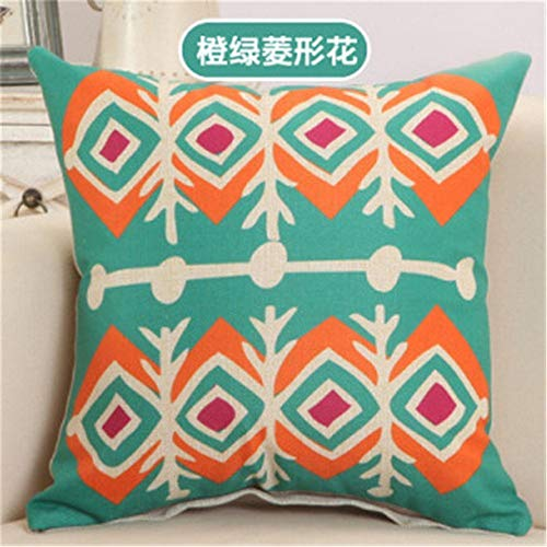 Zcfhike Square Check Geometric Cushion Cover Creative Kissen Case for Living Room Bed Room 20x30 Inch New9 -