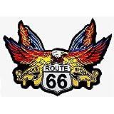 Pache motocycleta aguila con route 66