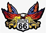 Patch Aquila Route 66 per Giacca e Gilet Biker Motociclista GF