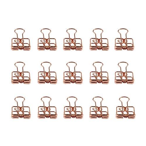 Zoohot Kreativ Hohl foldback klemmen Roségold Lange Schwanzklammer, 15 Stück Hohl Clip