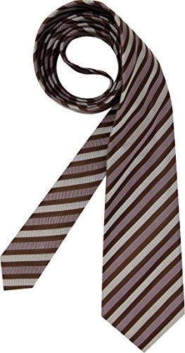 HUGO BOSS Herren Krawatte Herren-Accessoire College-Streifen, Größe: Onesize, Farbe: Braun