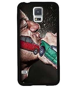 PRINTVISA Dusing man Premium Metallic Insert Back Case Cover for Samsung Galaxy S5 - G900I - D5943