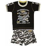 Littly Baby Boy's Printed Casual Wear Su...