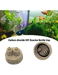 Besthuer Air Pumps-5 Piezas Acuario Acuario dióxido de Carbono DIY Reactor con Tapa de Botella de Tornillo rápido
