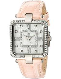 Burgmeister Armbanduhr für Damen mit Analog Anzeige, Quarz-Uhr und Lederarmband - Wasserdichte Damenuhr mit zeitlosem, schickem Design - klassische, elegante Uhr für Frauen - BM515-188 Accra