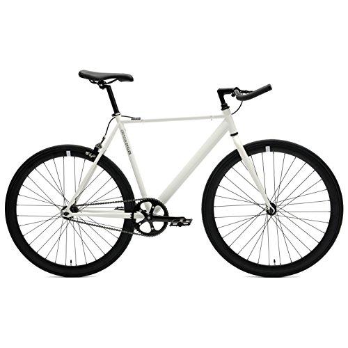 Critical Cycles 2169 Klassisches Eingangrad mit Starrgang und Pursuit Bullhorn Lenker - Weiß, 60 cm/X-Large