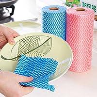 Toallitas de cocina desechables que se pueden cortar sin tejer, absorbentes de agua con aceite