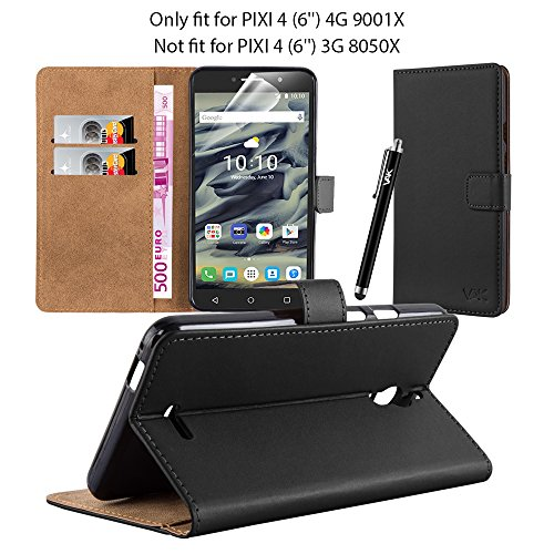 alcatel-pixi-4-6-4g-9001x-new-flip-wallet-book-stand-view-premium-leather-case-cover-free-screen-pro