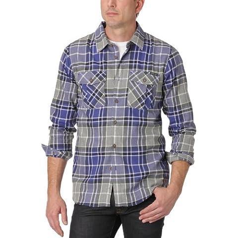 Oakley - Risky Ridge, camicia da uomo, in cotone, Blu (Blu - Spectrum blue), (Oakley Woven Shirt)