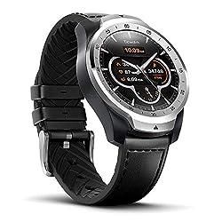 Ticwatch Pro Smartwatch Bluetooth, Mehrschichtiges Display, Herzfrequenz und NFC-Zahlungen basierend auf Google Wear OS, kompatibel mit iPhone/Samsung/Huawei/LG und Anderen Android-Telefonen