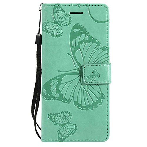 Cover Galaxy S8, Pelle Portafoglio Custodia per Samsung Galaxy S8 DENDICO Custodia a libro con funzione di appoggio e Porta carte di cRossoito - verde