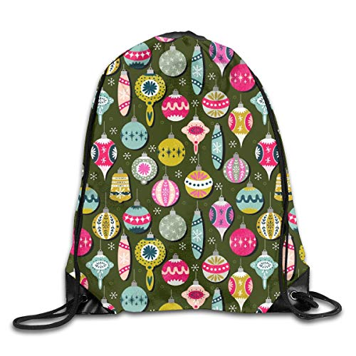 Drawstring Backpack Bags Holidays Ornaments Vintage Holidays Holidays Xmas Cute Holidays Ornaments Ornament Sport Athletic Gym Sackpack for Men Women - Christmas Schule Ornament