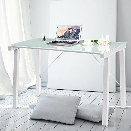 IKAYAA Computer Desk PC Desk Office Desk Computer Workstation