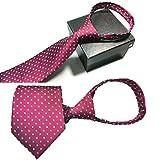 Fascigirl Business Krawatte, Herren Krawatte Pre-Tied Einstellbare Reißverschluss Krawatte