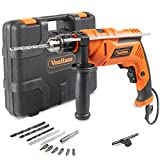 VonHaus 810W Hammer Impact Drill Driver Kit Auxiliary Handle Corded Electric Variable Speed