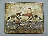 linoows Nostalgie Blechschild, Herren Fahrrad, Technik, WC Wandschild 20x25