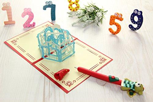 3D Pferd Karussell Auto Love Haus Creative Geschenke für Valentine 's Day Postkarte Grußkarten Geschenk Karte h1304r (Valentines Day-karte-autos)