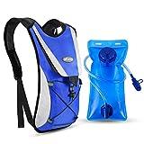 Kuyou Trinkrucksack mit 2L Trinkblase, Hydration Rucksack Ultralight Laufrucksack mit Trinksystem...