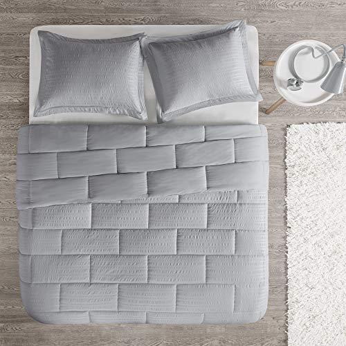 Intelligent Design Avery Bettdecken-Set für Doppelbett/Queensize-Bett, Aqua Full/Queen grau