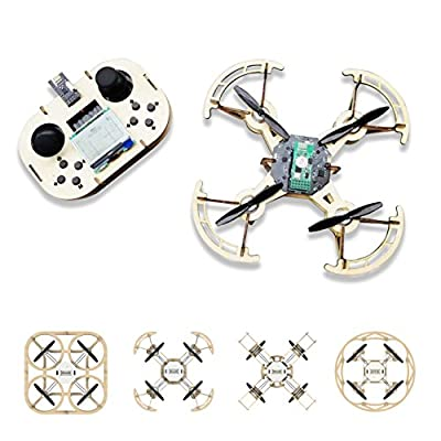 iBlazer 3D Wooden Jigsaw Puzzle Educational Drone, DIY 4 in 1 RC Quadcopter Kit, 720P HD Camera, Lightweight Airframe, Custom Actions