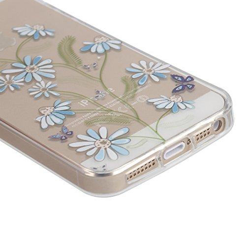 Apple iphone 6s plus Transparent Silikon Case,iPhone 6 plus hülle,Ekakashop Ultra dünn Slim Durchsichtig Transparente Muster Crystal Gel Silikon TPU Motiv Bumper Cas Schutzhülle Etui Tasche Cover Schu Fliegen Centipede