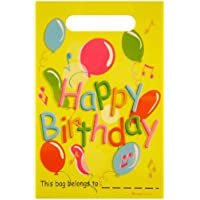 HENBRANDT Plastic Happy Birthday Loot / Birthday Party Bags (Pack of 12)