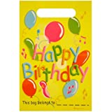 Henbrandt Lot de 12 pochettes surprises en plastique Motif Happy Birthday