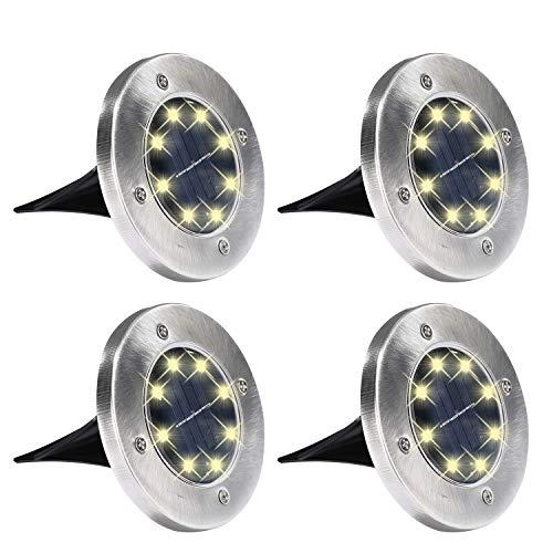 Yizhet 4 x Luces solares de tierra al aire libre