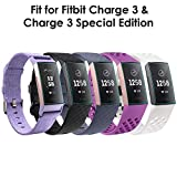 CAVN Fitbit Charge 3 Screen Protector (6 Packs), Anti-Fingerprint & Anti-Scratch Clear Screen Protector for Fitbit Charge 3 Wireless Activity Wristband