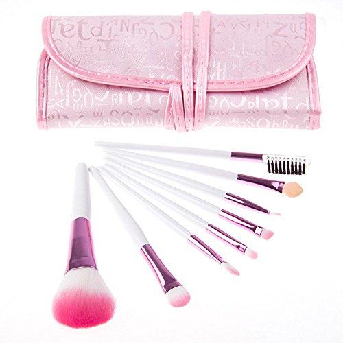 8 Pcs Set de pinceaux de maquillage cosmétique, Professional Foundation Brush Lip Eyeliner fard à paupières visage mélange pinceaux MakeupTool.
