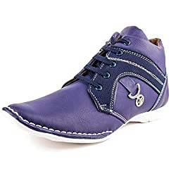 Golden Sparrow MenS Blue Fabric Synthetic Casual Shoe (Tm-K01-07)- 7 Uk