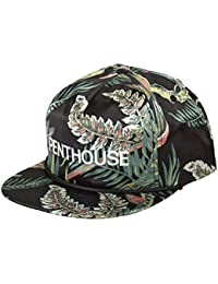 HUF x Penthouse Satin Snapback, Street/Skatewear Adjustable Cap in Palms
