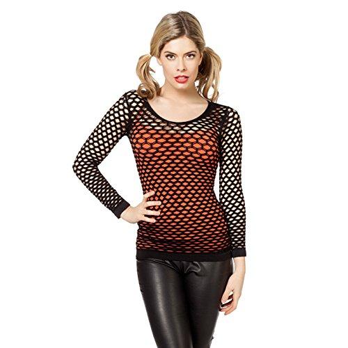 NEU Damen-Netz-Shirt, schwarz, Größe S/M