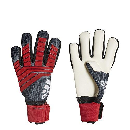 adidas f1806gl015Predator Pro Junior Fußball Handschuhe, Schwarz/Rot/Weiß, Gr. 4 (Weiße Adidas Fußball Handschuhe)
