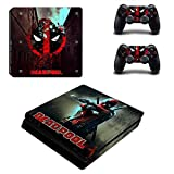 Playstation 4 Slim+2 Controller Design Sticker Protector Set - Deadpool (1)/PS4 S
