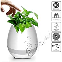 ZTE Sonata 4G Compatible Smart Touch Music Singing Flowerpot, MAYBEST Night Light Rechargeable Wireless Speaker Lamp, Creative Gifts for Festival, Birthday, Graduation Parties (without Plants) by Moblios