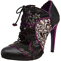 Poetic Licence by Irregular Choice Damen Halston Pumps, Schwarz (Schwarz/Rosa), 41 EU