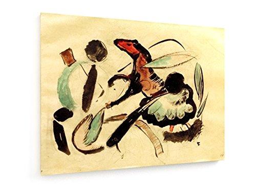 franz-marc-caballo-de-salto-con-formas-vegetales-100x75-cm-weewado-impresiones-sobre-lienzo-muro-de-