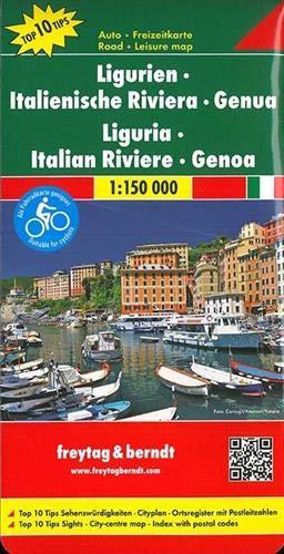 Ligurien - Italienische Riviera - Genua, Autokarte 1:150.000, Top 10 Tips: Toeristische wegenkaart 1:150 000 (freytag & berndt Auto + Freizeitkarten)