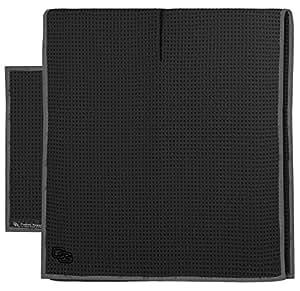 Club Glove Golf Microfiber Caddy and Pocket Towel Set (Black)