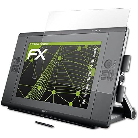 atFoliX Protección de Pantalla Wacom CINTIQ 24 HD touch Lámina protectora Espejo - FX-Mirror con efecto espejo