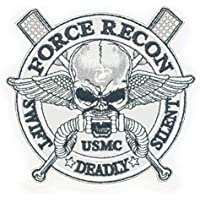 Cobra Tactical Solutions Besticktes Patch Force Recon * Swift * Silent * Deadly with Hook & Loop for Cosplay/Airsoft / Paintball
