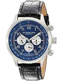 Stührling Original 858L.02 - Reloj analógico para hombre, correa de cuero, color negro