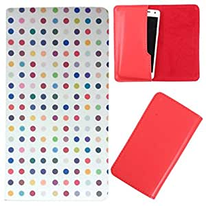 DooDa - For Karbonn A51Q PU Leather Designer Fashionable Fancy Case Cover Pouch With Smooth Inner Velvet