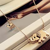 New Fashion Elephant Pendant Chain Choker Gold Necklace Women Lady Jewelry Gift by Brand New