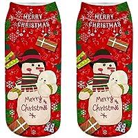 OHlive Suave Calcetines del Tobillo de Las Mujeres de la Navidad 3D imprimió Las Medias (1 par-SD31-One Size) (Color : SD31, tamaño : Talla única)