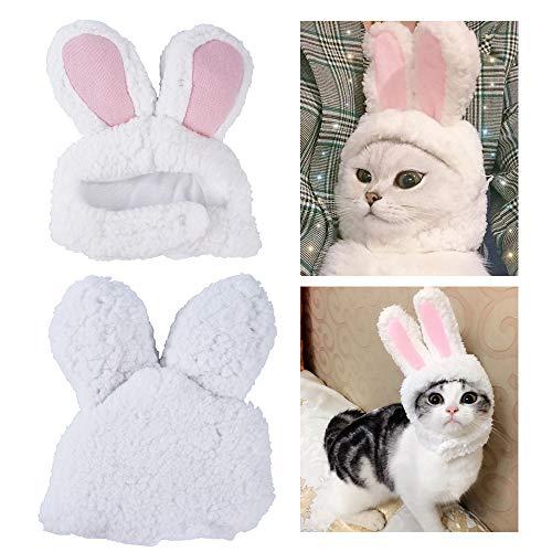 NIBESSER Katzen Kostüm Verstellbare Größe Hasenohren Bekleidung Welpen, Oster-Outfit, spannendes Geschenk für Ostern, Cosplay